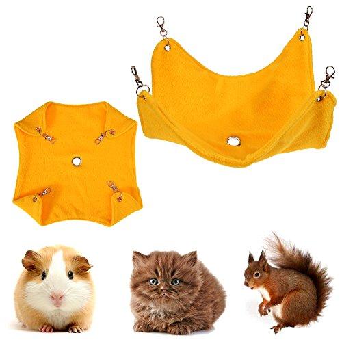 Embiofuels TM Fleece Hamster Hängematte Guinea Pig Zum Aufhängen Decke Matte für Kleine Haustiere Tierkäfig Katzenbett Zubehör Mat Pet ()