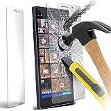 LOLO - Nokia Lumia 930 Crystal Clear 100% verre trempé Explosion & Shatter Protector Screen Guard Preuve avec chiffon en microfibre & Dust Collection Ruban