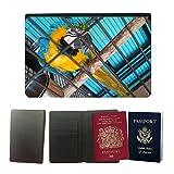 GoGoMobile Muster PU Passdecke Inhaber // M00124494 Papageienkäfig Vogelkäfig Vogel Caged // Universal passport leather cover