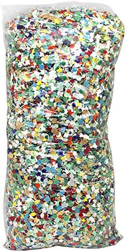 com-four® Konfetti, in vielen Farben gemischt, Durchmesser: 0,5 cm, 1000 Gramm (01 Beutel - Konfetti)