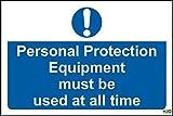 Équipements de protection individuelle ne doit être utilisé à tout moment de sécurité 1,2 mm en plastique rigide, dimensions :  400 x 300 mm...