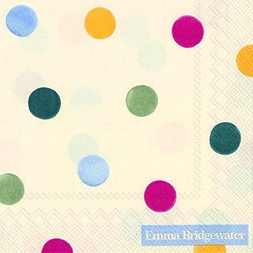 Emma Bridgewater Servilletas de Lunares 3Capas 20Unidades 25 x 25 cm