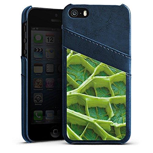 Apple iPhone 6 Housse Étui Silicone Coque Protection Feuille de nénuphar Plante Nature Étui en cuir bleu marine