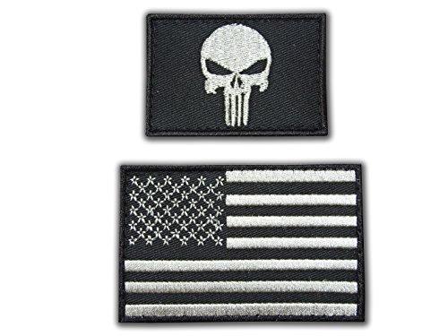 Preisvergleich Produktbild KLETTBAND Velcro Punisher Tactical Military Morale Biker Outlaw Skull Aufnäher Patch