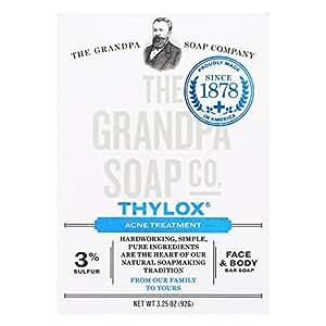 Grandpa's - Savon contre l'acné à base de Thylox , 92 g