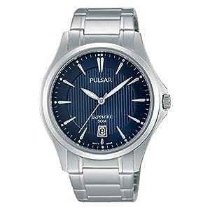 Pulsar Herren-Armbanduhr Analog Quarz Edelstahl PS9385X1
