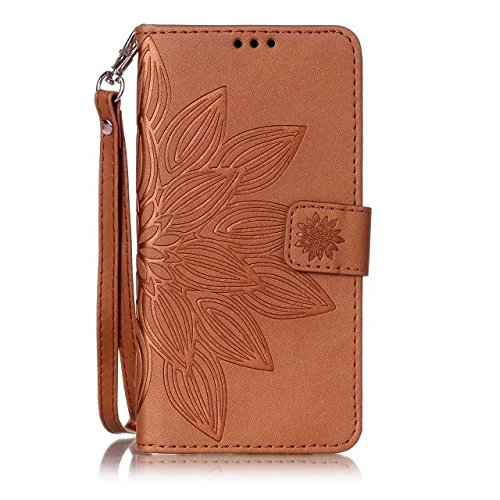 Etuse Custodia Per iPhone 5/5S/SE,iPhone SE Cover Blu,iPhone 5S Custodia in Pelle,Elegante Floreale Puro Color Portafoglio Leather PU Antigraffio Protettivo Case Cover Con Cinghia Ultra Sottile Pu Wal Vintage4