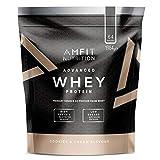 Amazon-Marke: Amfit Nutrition Advanced Whey Protein Eiweißpulver mit Cookies & Cream-Geschmack, 64 Portionen,  1984 g