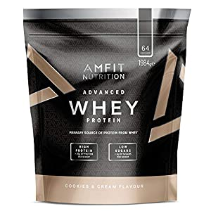 Amazon-Marke: Amfit Nutrition Advanced Whey Protein Eiweißpulver mit Cookies...