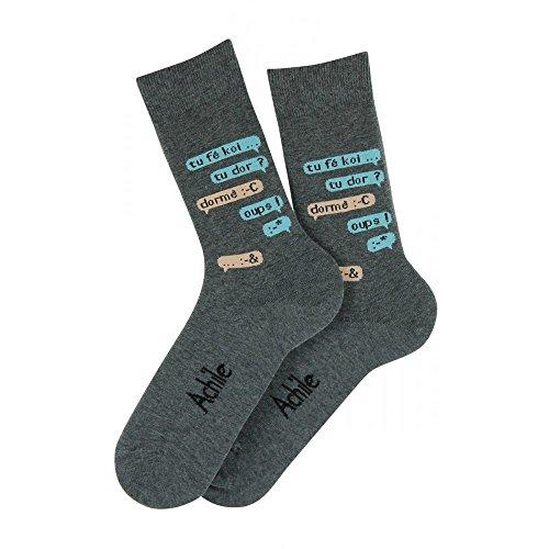Mi-chaussettes motif Tchat en coton