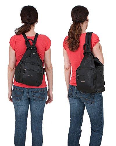 ALESSANDRO Femme Bag Handtasche Rucksack Damentasche + Schlüßelmäppchen (TIRANO Black 6) - 2