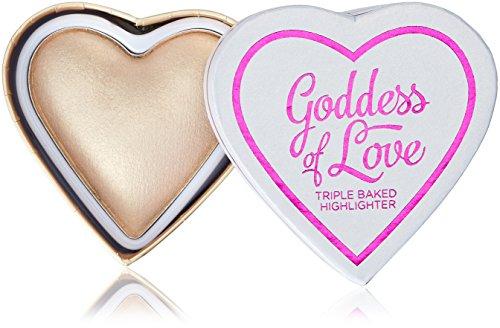 Makeup Revolution I Heart Makeup Goddess of Love Highlighter Golden Goddess Rozświetlacz do twarzy 10g