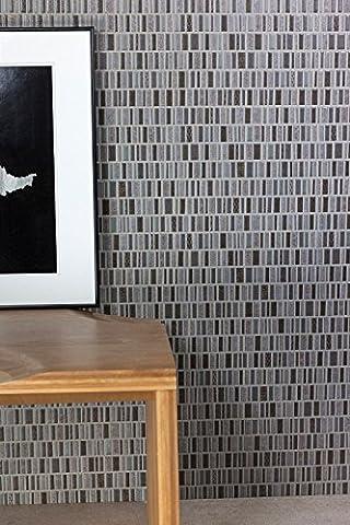 Black Brown Grey Mosaic Ceramic Matt Wall Tiles Bathroom Kitchen Utility Rooms - 25 cm x 40 cm