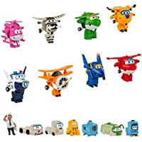 Super Wings - Pack colección 8 Super Wings transformables y 7 personajes extra (ColorBaby 43962)