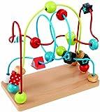 KidKraft 63241 Motorikschleife Perlenlabyrinth aus Holz - Kugelbahn Spielzeug für Babys, Kinder und Kleinkinder - Farben, Formen, Buchstaben und Nummern