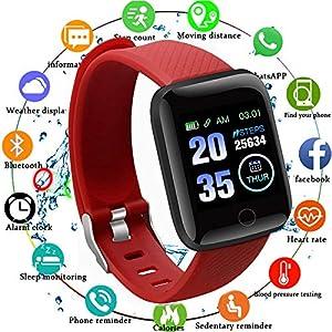 Smart Fitness Tracker Watch, IP67 Impermeable Reloj Inteligente con Contador de Pasos Monitor de sueño, podómetro Reloj… 10