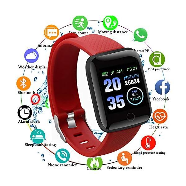 Smart Fitness Tracker Watch, IP67 Impermeable Reloj Inteligente con Contador de Pasos Monitor de sueño, podómetro Reloj… 2