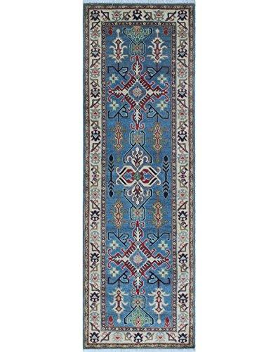 Noori Rug Teppich Nuri Handarbeit Bereich Teppich, Wolle, blau/elfenbein, 2'17,8cm X 8' 7,6cm (Teppich Bereich Traditionellen Elfenbein)