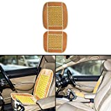 #5: Autofy Universal All Purpose Car Seat Cushion/Seat Decorator with Wooden Beads for All Cars (Brown and Yellow)