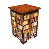 Werkhaus SH8244 Photohocker Motiv Bücherregal Hocker, bunt, 29.5 x 29.5 x 42 cm