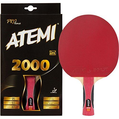 Atemi 2000 Pro Line racchetta da ping pong | Racchetta per tennis tavolo professionale (Anatomica)