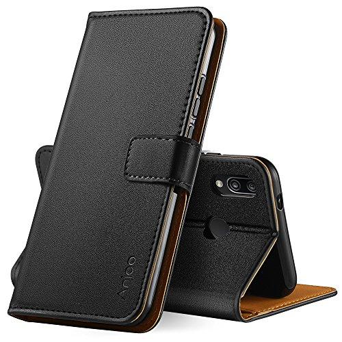 Anjoo Cover Compatibile per Huawei P20 Lite, Custodia Flip Premium Protettiva Portafoglio PU Pelle Cover Compatibile con…