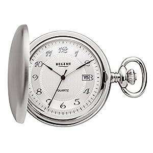 Regent – Taschenuhr – Quarz – Silber – Datum – P13