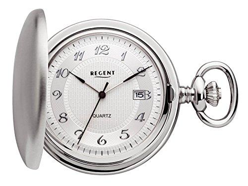 Regent - Taschenuhr - Quarz - Silber - Datum - P13