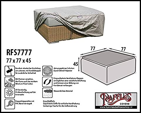 RFS7777Protective Cover for Wicker Lounge Rattan Tea Table, Coffee Table, Foot Stool or Foot Rest.