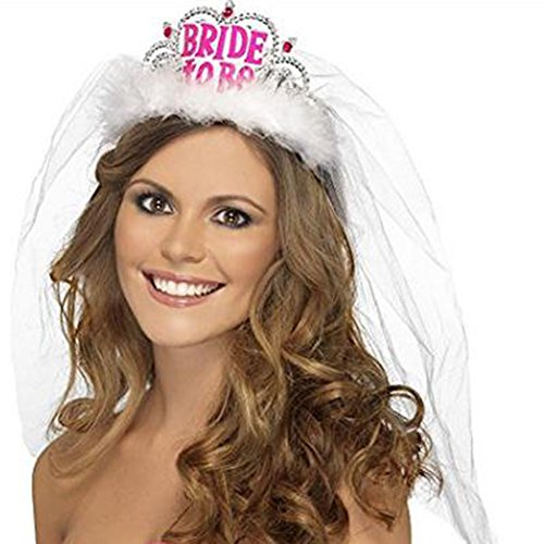 LAAT Braut Crown Night Party Braut Tiara Stirnband Night Bachelorette Party Zubehör Bachelorette Party Favors für Mädchen (2)