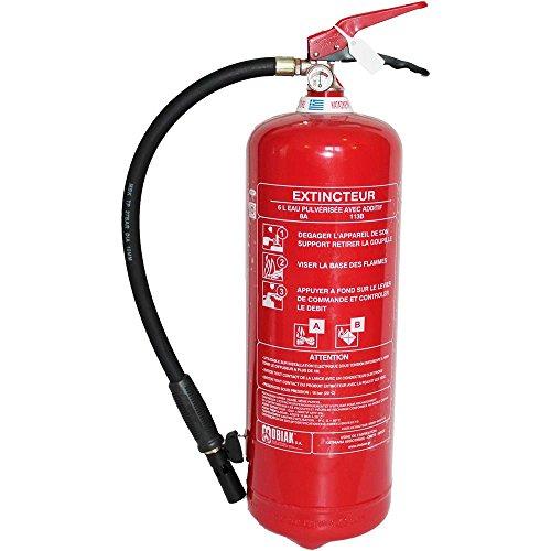 Extincteur 6 litres à eau pulvérisée avec additif + support fixation