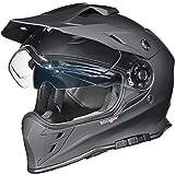 RX-967 Crosshelm Integralhelm Quad Cross Enduro Motocross Offroad Helm rueger, Größe:M (57-58), Farbe:Matt Schwarz
