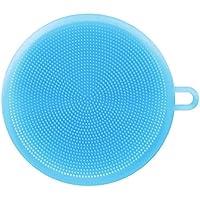 Soft Round Coque en silicone pour brosse éponge à récurer ustensile de cuisine Fruits Vaisselle propre
