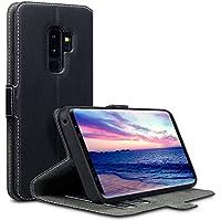Coque Samsung S9 Plus, Terrapin Étui Housse en Cuir Ultra-mince Avec La Fonction Stand pour Samsung Galaxy S9 Plus Étui - Noir