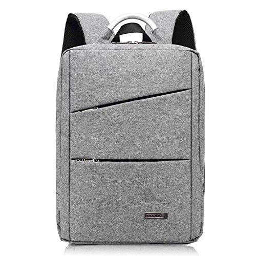 Preisvergleich Produktbild Laptop-Rucksack 19 Zoll,  14-Zoll-Laptop Business-Rucksack,  strapazierfähige dünne leichte wasserdichte Campus Rucksack,  professionelle Business-Rucksack mit USB-Ladeanschluss,  geeignet für Damen ( Farbe : Hellgrau )