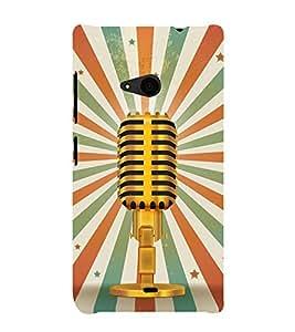 Loud Speaker Vintage Awaj 3D Hard Polycarbonate Designer Back Case Cover for Nokia Lumia 535 :: Microsoft Lumia 535