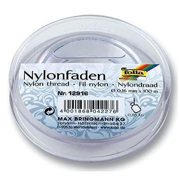 Folia Nylonfaden Auf Spule, Transparent, 0,16mmx100m, Tragkraft 0,85kg:  Amazon.de: Küche U0026 Haushalt