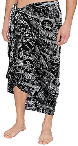 traje-de-bao-del-traje-de-bao-ropa-de-playa-para-hombre-encubrir-sarong-pareo-negro-del-traje-de-bao-de-natacin