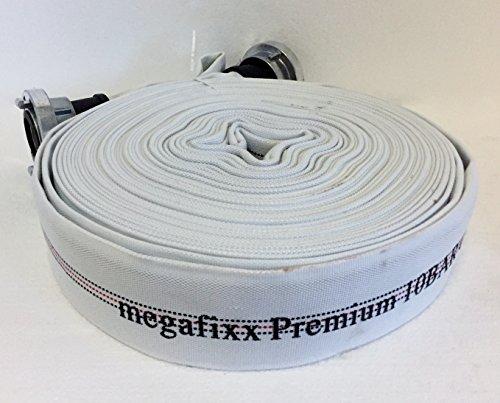 Vitamin C Marken (30 Meter C 52 - Industrieschlauch Feuerwehrschlauch Bauschlauch megafixx Premium 10 BAR C-Storz Kupplung)
