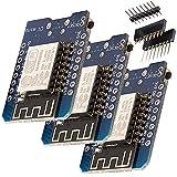 AZDelivery 3 x D1 Mini NodeMcu mit ESP8266-12E WLAN Modul für Arduino mit gratis eBook, 100% WeMos kompatibel