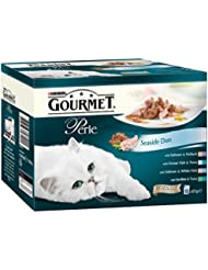 Purina Gourmet Perle Mixed Variety Seaside Duo Adult Wet Cat Food, 12 x 85g