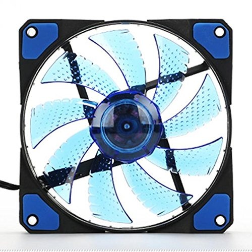 ZEELIY Abkühlen Lassen 15 LED Licht ziemlich 120mm DC 12V 4Pin PC Computer Gehäuse Kühlung Lüfter Mod