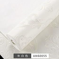 BABYQUEEN Grabado 3D estéreo dormitorio completo en mosaico continental corta tela no tejida de papel para pared salón TV habitación de matrimonio de papel tapiz de pared Arroz blanco