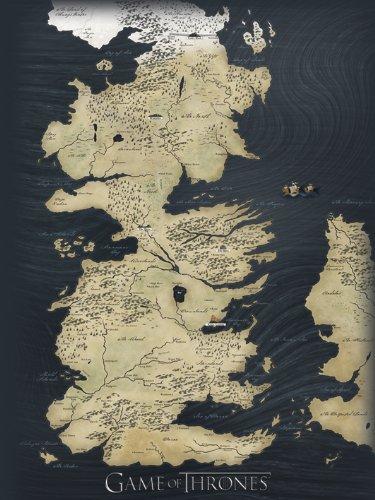 Game Of Thrones Pyramid International WDC90141 Mapa de Juego de Tronos (Material Lona, 60 x 80 cm)