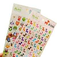 Cdet 1 Sheets Diary Stickers Lovely Owl Album Cartoon Stickers Kids DIY Schedule Calendar Decor Sticker Tag Lable