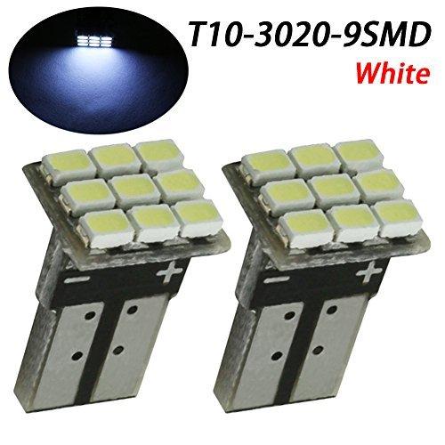 TABEN T10 168 194 2825 Ampoules LED 3030 Chipset pour intérieur de Voiture dôme Carte Porte grâce au Tableau de Bord Lights (Lot de 2)