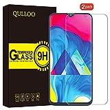 QULLOO Pellicola Vetro Temperato per Samsung Galaxy M20 Protettiva Screen Protector 2 Packs Vetro Temprato Trasparente ad Alta Definizione con Pellicola per Samsung Galaxy M10/Galaxy M20