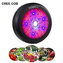 Lampe Cree COB Led pour plantes, 300W UFO Led Grow Light spectre complet, lumière pour plantes avec UV IR pour plantes d'intérieur, culture hydroponique, serre, plantes succulentes, fleurs, semis