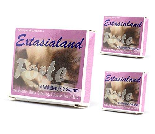 Extasialand Forte natürliches Potenzmittel mit Erfolgsgarantie 12 Kapseln 11,7 g