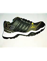 Men Green Black Running Sports Shoes